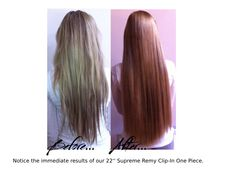 """Notice the immediate results with our brand new 22"""" Supreme Remy Clip-In One Piece #10B Rose Gold Brown £135.00 from www.geehair.com.  Hair has been cut, coloured and styled by our Gee Hair Stylist, for bookings please call 0191 2574000 to make an appointment.  Receive FREE UK DELIVERY with ALL HAIR EXTENSION ORDERS!  #hairextensions #hair #longhair #blondehair #blonde #beforeandafter #hairresults #besthairextensions"""