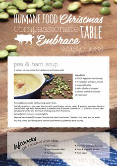 Higher welfare pea & ham soup. From our All Chefs Great & Small blog at http://www.rspca.org.au/shophumane/blog/