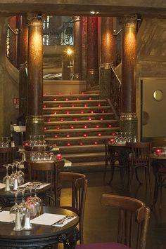 Inside view of the 'De la ville café' in the Bonne Nouvelle boulevard, 10th arrondissement