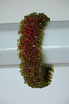 Beaded bracelet by Kay Bonitz. Kay's gallery is great, beautiful jewelry.