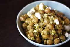 Kale Pesto Chickpeas with Feta | One Hungry Mama