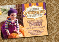 Hey, I found this really awesome Etsy listing at http://www.etsy.com/listing/81922502/diy-printable-little-pumpkin-birthday