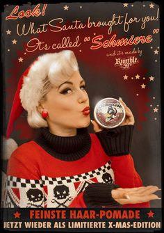 Rumble59 Schmiere X-Mas Special  Die Pomade mit dem Weihnachts-Raben und dem weihnachtlichen Duft. #XMas #Weihnachten #Pomade