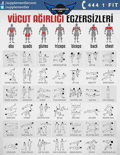 Kendi vücut ağırlığınızı kullanarak yapabileceğiniz hareketler ve bu hareketlerin hangi bölgelerinizi çalıştırdığına dair bu tablo sayesinde siz de kendi antrenman programınızı çıkartabilirsiniz. #protein #fitness #health #supplement #fitness #bodybuilding #body #muscle #kas #vücutgelistirme #training #weightlifting #spor #antrenman #crossfit #spor #workout #workouts #workoutflow #workouttime #fitness #fitnessaddict #fitnessmotivation #fitnesslifestyle #bodybuilding