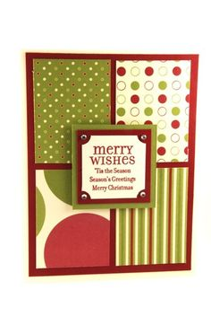 Merry Wishes And More On This Handmade Christmas Card Red And Green