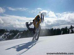 Snowmobile wheelie