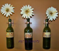 Wine bottle art- LOVE THIS!!!!