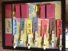 Meal planner. A few changes to this, but LOVE this idea!!!