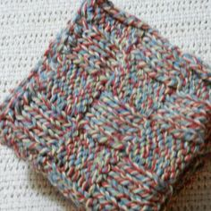 Cotton Dishcloths Knit set of 2  variegated by Susansweaters, $5.00