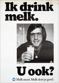 U ook? M Melk moet. Old Advertisements, Advertising Poster, Vintage Ads, Vintage Posters, Amsterdam, Safety Posters, Old Commercials, Clip Art Pictures, Best Ads