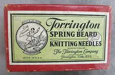Nice Old Box, Torrington Spring Beard Knitting Needles, pat.1939, No Reserve