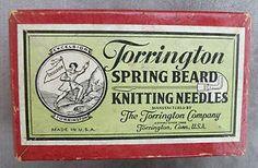 Nice Old Box, Torrington Spring Beard Knitting Needles, pat.1939, No Reserve