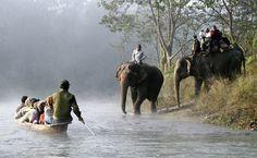 Chitwan - Sauraha, Chitwan, słonie i spływ na Bhudi Rapti , NEPAL