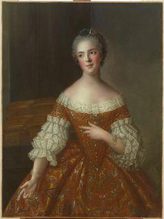 Studio of Jean-Marc Nattier, Madame Henriette de France, 1747, Oil on canvas, 102 x 80 cm (Versailles)