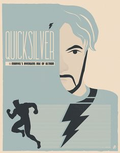 """Quicksilver"" by Matt Needle Marvel's Avengers: Age of Ultron Art Showcase now open at Hero Complex Gallery"