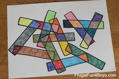 Geometric Art for Kids. Great way to learn about shapes.