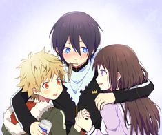 Yukine, Yato & Hiyori I just love this Anime *-* The picture doesn´t belong to me, I just render it Noragami / Render Noragami Anime, Yatogami Noragami, Manga Anime, Yato And Hiyori, Anime Art, Chibi, Yatori, The Darkness, Another Anime
