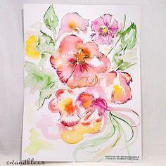 Achte die Zartheit der Blüte denn nur was nicht zerstört wird kann Dir ihre ganze betörende Fülle an Duft und Pracht schenken. Sie sind doch so fragil die  Menschenblumen.  . . (das Bild hier ist nicht mehr zu haben. Doch solche Arbeiten können natürlich auch nach eigenem Wunsch bei mir in den Shops wandklex.etsy.com und wandklex.dawanda.com (nach)bestellt werden.  Material : Schmincke Künstlerfarben Horadam auf  @hahnemuehle Britannia 300g matt   @wandklex Kunstatelier. .  #nelke #blume…