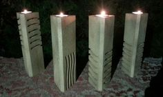 DIY Candle Holders Inspired by the Stones from The Fifth Element - See more at: http://technabob.com/blog/2015/07/27/the-fifth-element-stone-candle-holders/#sthash.SReLWVI8.dpuf