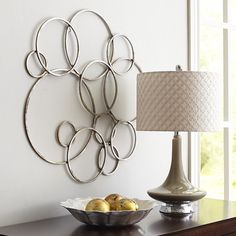 Silver Circles Wall Decor $29.99 (was $39.95)