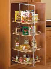 Pantry Roll-Out Storage Units at the Organization Store