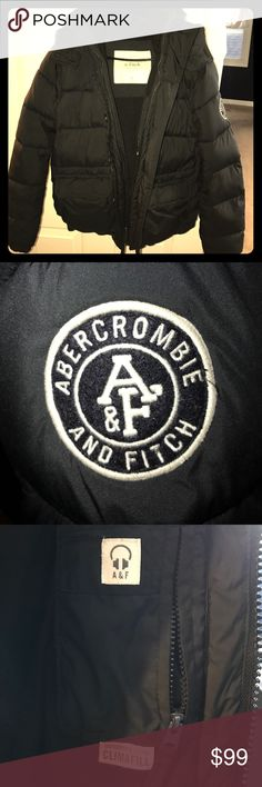 Men's A&F Down Puffer Coat Small This is in excellent condition my son got it for Christmas and we had a mild winter so he only wore it maybe 3-5x & has outgrown it. No rips, stains or anything else wrong, sf, bf. Abercrombie & Fitch Jackets & Coats Puffers