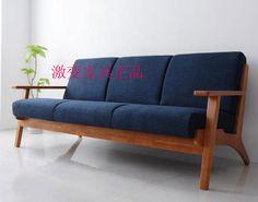 Armas de madera sofá estilo nórdico sofá de la sala de corea del sofá de la tela en Sofás de Sala de Estar de Muebles en AliExpress.com   Alibaba Group