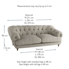 Our Bagsie sofa is a firm favourite. With its laid-back comfort and weathered oak legs, it's a wicked take on a classic chesterfield. Living Room Sofa, Living Room Decor, Living Rooms, Living Spaces, Chesterfield Style Sofa, Sofas, Loaf Sofa, Sofa Legs, Sofa Frame