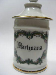 Poisonous Plants: Limoges #Marijuana apothecary jar, Paris.