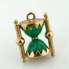 Gold hourglass