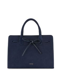 Suede Sun Tote Bag, Blue by Mansur Gavriel at Bergdorf Goodman.