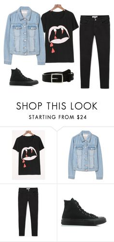 """I'm Almost Over The Emo Stage Of My Life"" by oliveroafish on Polyvore featuring WithChic, MANGO, Converse and rag & bone"