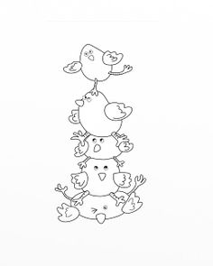 Decorative Rocks Ideas : Sjs Little Musings: Free digital stamp = Easter chick pile! Colouring Pages, Adult Coloring Pages, Coloring Books, Cross Stitch Embroidery, Embroidery Patterns, Hand Embroidery, Digital Stamps Free, Scrapbook, Quilts