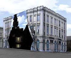 Magritte Museum, Bruxelles  This didn't exist when I lived there.  What an exquisite facade!
