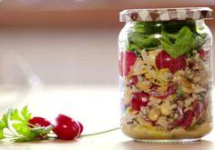Salada multigrãos no pote - o passo a passo.