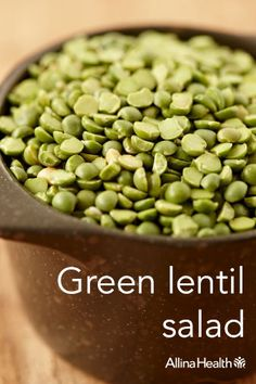 Green lentil salad - Build up your bones with bok choy! This cabbage-like vegetable contains calcium, vitamin K, magnesium and phosphorous – all important for bone health. http://www.allinahealth.org/Health-Conditions-and-Treatments/Eat-healthy/Recipes/Salads/Green-lentil-salad/