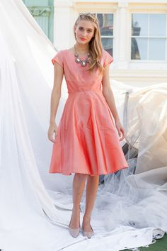 Shabby Apple - Bleecker Dress Peach, $116.00 (http://www.shabbyapple.com/shop/bleecker-dress-peach/)