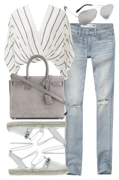 """""""Untitled #2281"""" by mollyk99 ❤ liked on Polyvore featuring Abercrombie & Fitch, Free People, Yves Saint Laurent and Victoria Beckham"""