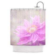 Kess InHouse Iris Lehnhardt Wind Flower Pink Shower Curtain