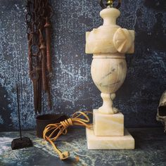 A personal favorite from my Etsy shop https://www.etsy.com/listing/266792534/alabaster-table-lamp-cottage-lighting