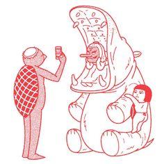 Snap Framed Art Print by Kimiaki Yaegashi - Vector Black - Japanese Illustration, Graphic Design Illustration, Graphic Illustration, Digital Illustration, Ligne Claire, Illustrations And Posters, Japanese Art, Framed Art Prints, Canvas Prints