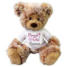 1e7f4da02ab Personalized Flower Girl Teddy Bear - 13