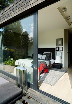 cz - Dům u lesa Modern Barn House, Shed Homes, Design Case, Concrete, House Design, Windows, Contemporary, Architecture, Building
