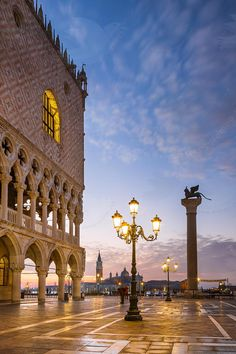 Dawn over Piazza San Marco & Doge's palace, Venice, Italy