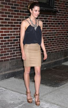 Jessica Biel Mini Skirt - Mini Skirt Lookbook - StyleBistro