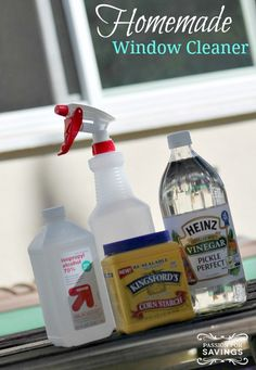 Make your own Homemade Window Cleaner that leaves your windows clean and streak free!