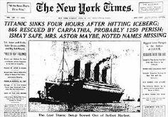 Titanic hits iceberg in N. Atlantic 1912