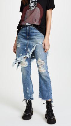 d1c75e5c2e1 Yay R13 Double Classic Skirted Jeans  jeans  fashionblogger  styleblogger   style  fashion