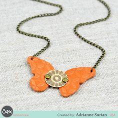 Extraordinary, everyday accessories you can DIY with Sizzix!   Adrianne Surian shares a beautiful boho butterfly butterfly necklace:.