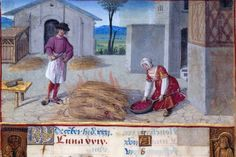 The Labours of the Months, December: Roasting Slaughtered Pigs by renzodionigi, via Flickr